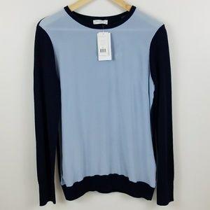 <Equipment> silk front sweater